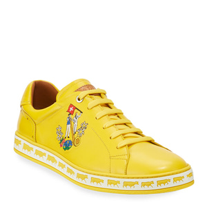 [정품] 발리 BALLY Mens Anistern Leather Low-Top Sneakers, Yellow  / 피오리토