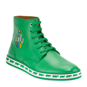 [정품] 발리 BALLY Mens Alpistar Leather High-Top Sneakers, Green  / 피오리토