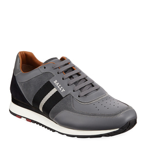 [정품] 발리 BALLY Mens Aston New5 Leather Sneakers w/ Trainspotting Stripe  / 피오리토