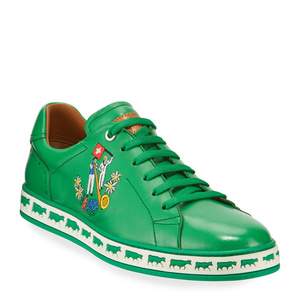[정품] 발리 BALLY Mens Anistern Leather Low-Top Sneakers, Green  / 피오리토
