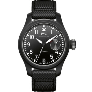 아이더블유씨 IWC Big Pilot Top Gun Automatic Black Dial Mens Watch IW502001