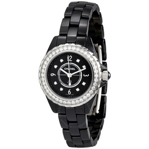 샤넬시계 CHANEL H2571 J-12 WHITE CERAMIC 8POINT-DIAMOND 여성