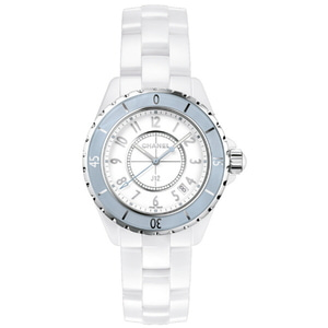 샤넬시계 CHANEL J12 H4340 CHANEL J-12 WHITE 33mm SOFT-BLUE LIMITED EDITION