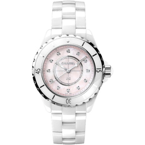 샤넬시계 CHANEL J12 White Ceramic Pink Dial Quartz 33mm H5513
