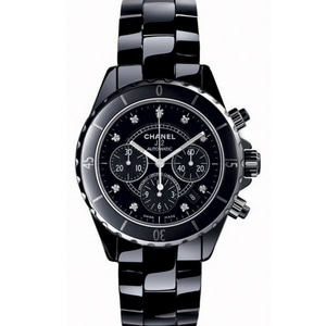 샤넬시계 CHANEL J12 Black Ceramic Mens Watch H2419