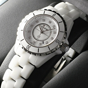 [추가비용없음] 샤넬CHANEL H1628 CHANEL J12 H1628 White Ceramic 33mm Diamond Dial