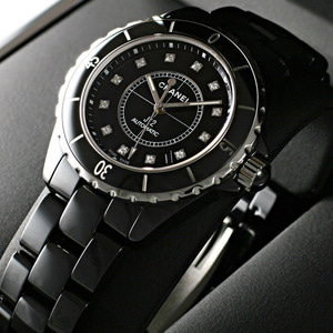 [추가비용없음] 샤넬 CHANEL J12 H1626 diamond CERAMIC BLACK 남성