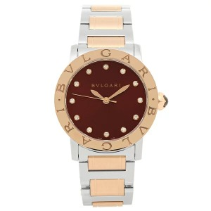 [추가비용없음] 불가리 BVLGARI BBL33C11SPG/12 Brown Dial Steel and 18kt Rose Gold 33mm