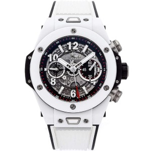 [추가비용없음] 위블로 빅뱅 HUBLOT 411.HX.1170.RX Big Bang Unico White Ceramic 45mm