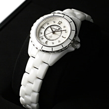 [추가비용없음] 샤넬 Chanel H2570 J-12 WHITE CERAMIC 8 Point - Diamonds 여성용
